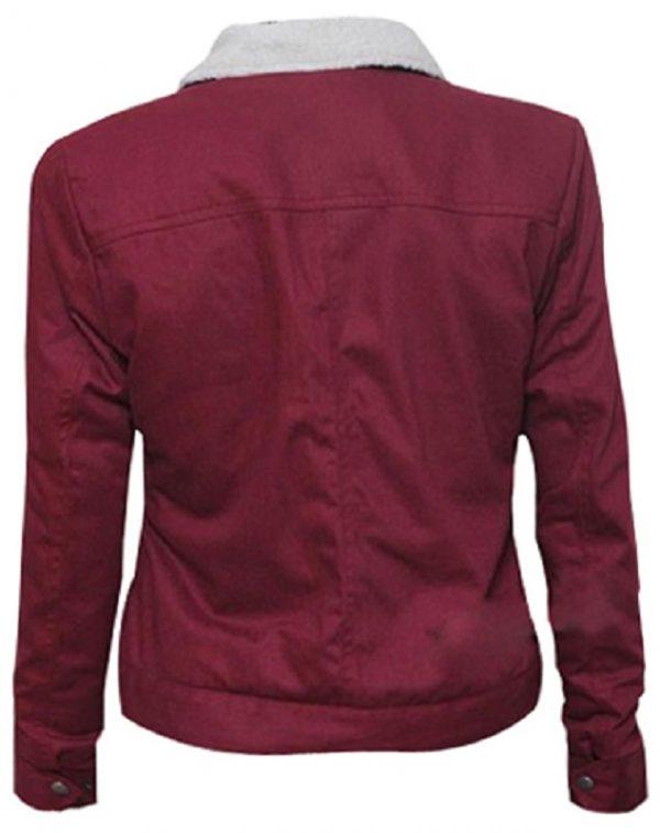 Horror, Fantasy TV Series Stranger Things Nancy Wheeler Natalia Dyer Maroon Cotton Jacket