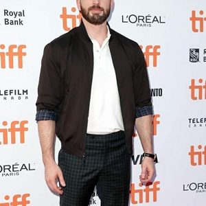 2019 Knives Out Event Chris Evans Jacket