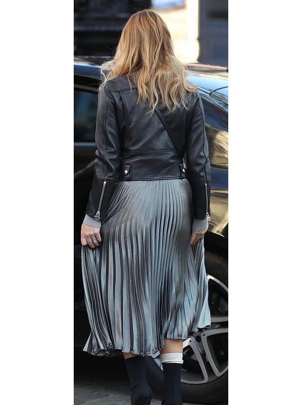 Stylish Amanda Holdencentral London Black Leather Jacket