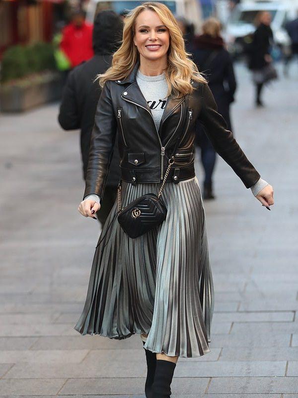 Stylish Amanda Leather Jacket