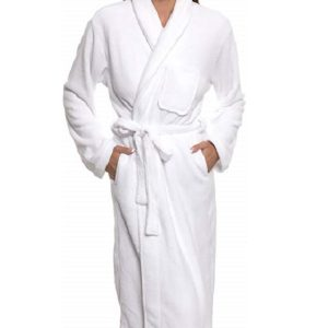 Womens Bathrobe Plush Wrap Luxury Towels Gown