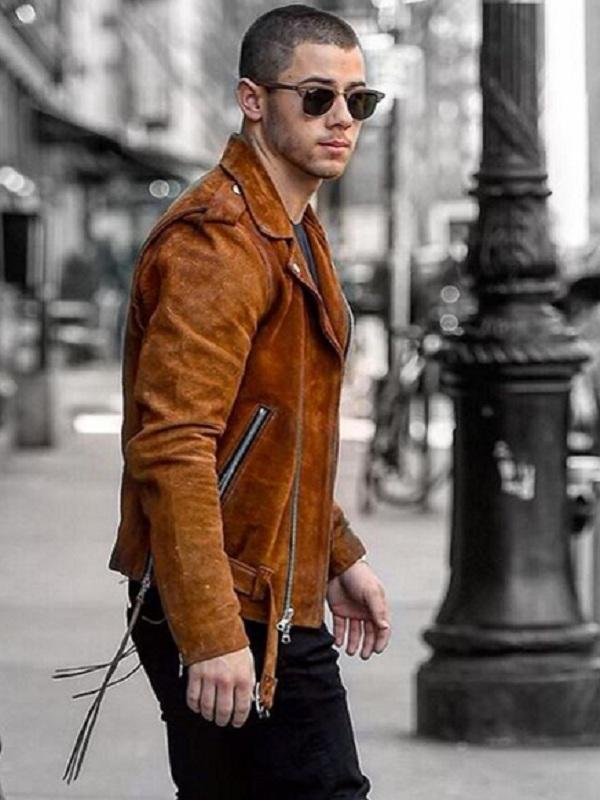 Singer Nick Jonas Leather Jacket