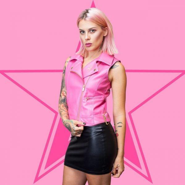 American singer Jeffree Star pink vest