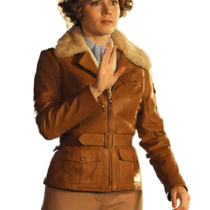 Night at the Museum 2 Amy Adams Jacket, Amy Adams Brown Jacket