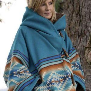 TV Series Yellowstone Season 3 Kelly Reilly Wool Hooded Coat