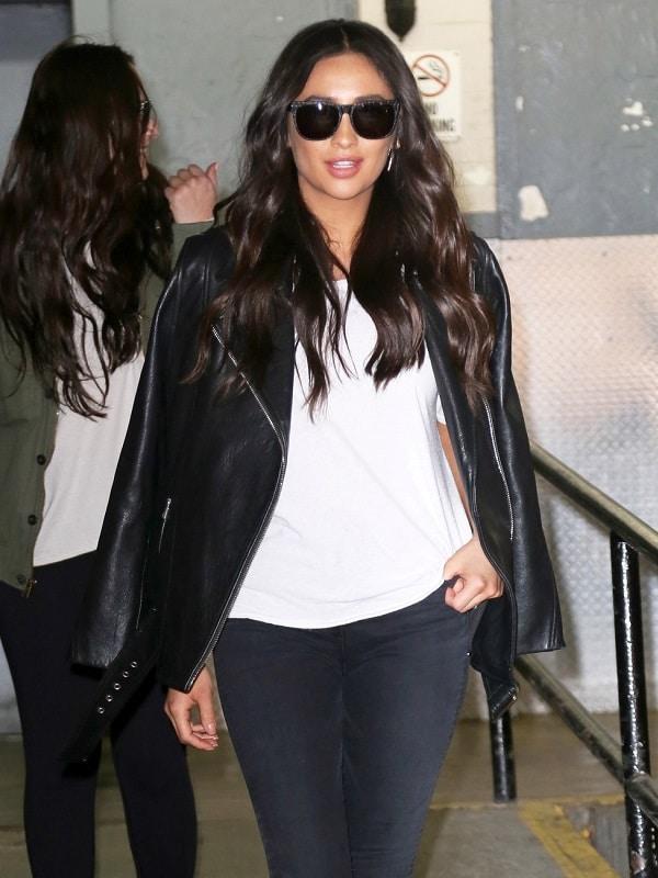 Actress Shay Mitchell Leather Jacket
