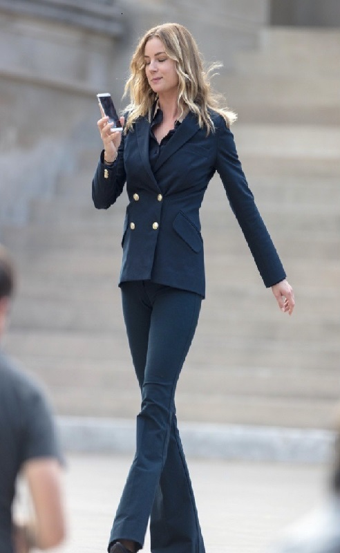 Emily VanCamp The Falcon and the Winter Soldier Sharon Carter Teal Coat