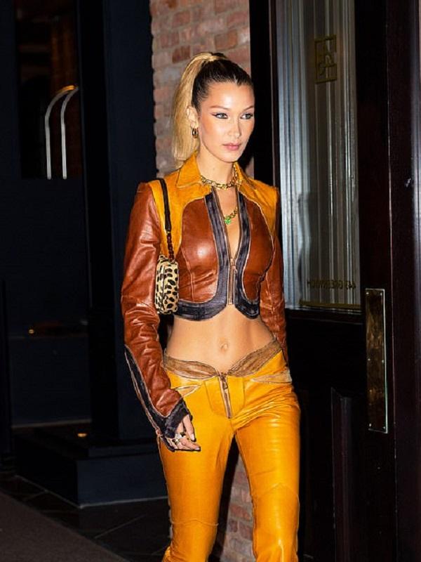 Bella Hadid Western Crop Jacket