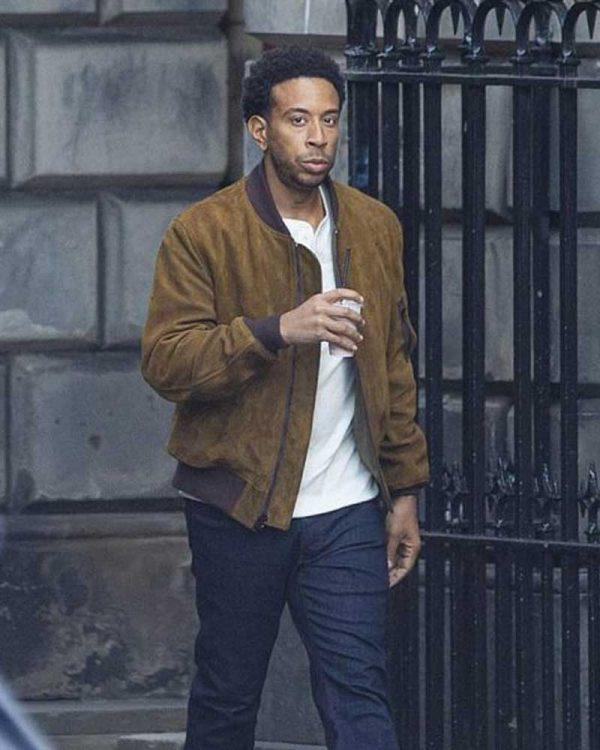 Ludacris Brown Suede Leather Tej Parker Bomber Jacket