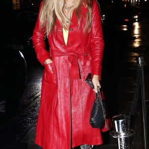 Rita Ora Red Coat