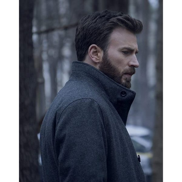 defedning jacob chris evans coat