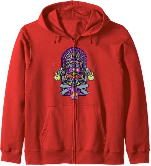 Aztec King Smoking Red 420 Hoodie