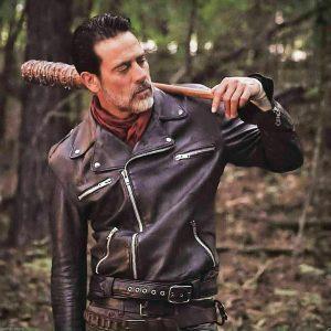 The Walking Dead Dean Morgan Black Belted Leather Jacket